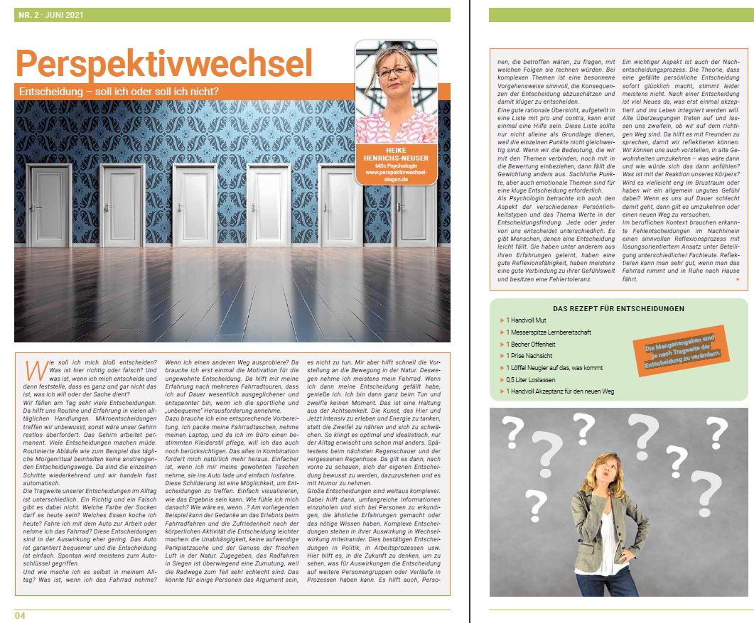 PERSPEKTIVWECHSEL - Heike Henrichs-Neuser